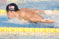 Swm world aquatics championship mens m butterfly final jul rome italy michael phelps usa competing in the the race was won by Stock Photography