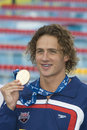 Swm world aquatics championship mens m individual medley f jul rome italy ryan lochte displays his gold medal and teeth during the Stock Images