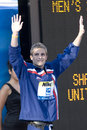 Swm world aquatics championship mens m individual medley jul rome italy eric shanteau usa bronze medal winner during the medal Stock Images