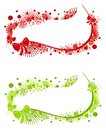 Swoosh Christmas Logos Labels Royalty Free Stock Photography