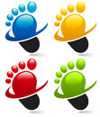Swoosh Foot Icons Stock Photo