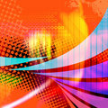 Swooshy Lines Abstract Layout Royalty Free Stock Photo