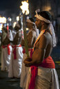 Sword Carriers perform during the Esala Perahera in Kandy, Sri Lanka. Royalty Free Stock Photo