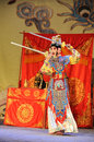 The sword dance-Beijing Opera: Farewell to my concubine Royalty Free Stock Photo