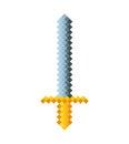 Sword game pixelated icon Royalty Free Stock Photo