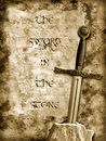 Sword in the stone Royalty Free Stock Photo