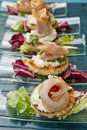 Swordfish canape Royalty Free Stock Images