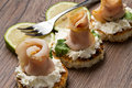 Swordfish canape Royalty Free Stock Image