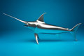 The swordfish model. Royalty Free Stock Photo