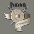 Swords and shield. Viking.