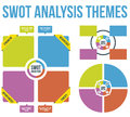Swot analysis themes vector analytics for presentation in Stock Images