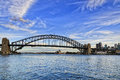 Sy Bridge Lavender bay day Royalty Free Stock Photo