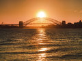 Sy Bridge Sun Side Orange Stock Photo