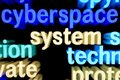 Syberspace system Royalty Free Stock Photo