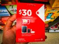 Vodafone sim card 30 dollar prepaid starter pack works in all phones, tablets and modems. Royalty Free Stock Photo