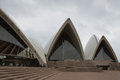 Sydney australia august opera house cloudy day Royalty Free Stock Photography