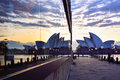 SYDNEY, AUSTRALIA -August 22, 2015 : View of sunrise at Sydney O Royalty Free Stock Photo