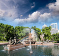 Sydney, Australia. Hyde Park and Archibald Fountain Stock Photo