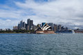 Sydney australia march side view of sydney s most famous icon the opera house on in Stock Image