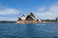 Sydney australia march side view of sydney s most famous icon the opera house on in Royalty Free Stock Photo