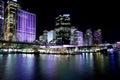 Sydney australia may circular quay sydney cbd aust by night during annual vivid celebration Stock Image