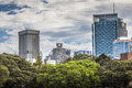 Sydney australia october shady park a place for recrea recreation people s eastern skyline taken from the botanic gardens Stock Photography