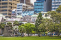 Sydney australia october shady park a place for recrea recreation people s eastern skyline taken from the botanic gardens Royalty Free Stock Images