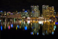 Sydney cbd darling harbor night scape australia july and reflection Stock Images