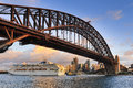 Sydney CBD Sun Princess Under bridge Royalty Free Stock Photo