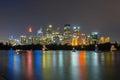 Sydney City Skyline at Night Royalty Free Stock Photo