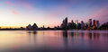 Sydney City Skyline at sunrise Royalty Free Stock Photo