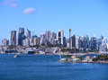 Sydney city skyline view and a popular tourist destination nsw australia Royalty Free Stock Photo