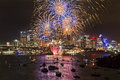 Sydney Firework Blue Yellow balls Royalty Free Stock Photo