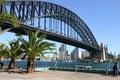 Sydney-Hafen-und Sydney-Hafen-Brücke Lizenzfreie Stockbilder