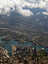 Sydney Harbour Aerial View IMG_8320 Royalty Free Stock Photo