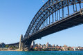 Sydney harbour bridge australia sweeping view of looking out to kirribilli Stock Image