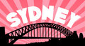 Sydney harbour bridge background Stock Photo