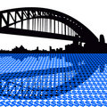 Sydney harbour bridge dollars Royalty Free Stock Photography