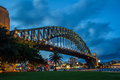 Sydney harbour bridge with luna park and north in the background Stock Photography