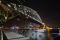 Sydney harbour bridge night scene of Stock Photo