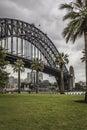 Sydney harbour bridge in a quiet spring sunrise in sydney austr australia Royalty Free Stock Photos