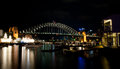 Sydney Harbour by Night Royalty Free Stock Photography