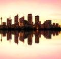 Sydney night skyline, Australia Royalty Free Stock Photo