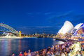 SYDNEY - NOVEMBER 6, 2015: Opera House at dusk. The man made structure is considered the major landmark of Sydney and tourists