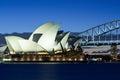 Sydney Opera House at Dusk Stock Photos