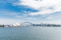 Sydney Opera House and Harbour Bridge. Australia. River Water. Wide Angle Royalty Free Stock Photo