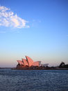Sydney Opera House isolated at sunset Royalty Free Stock Image