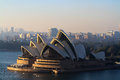 Sydney opera house in mornning sunlight australian morning photo taken august australia Royalty Free Stock Image