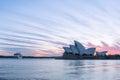 Sydney Opera House at sunrise in Sydney Australia Royalty Free Stock Photo