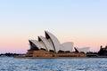 Sydney Opera House at sunset Royalty Free Stock Photo